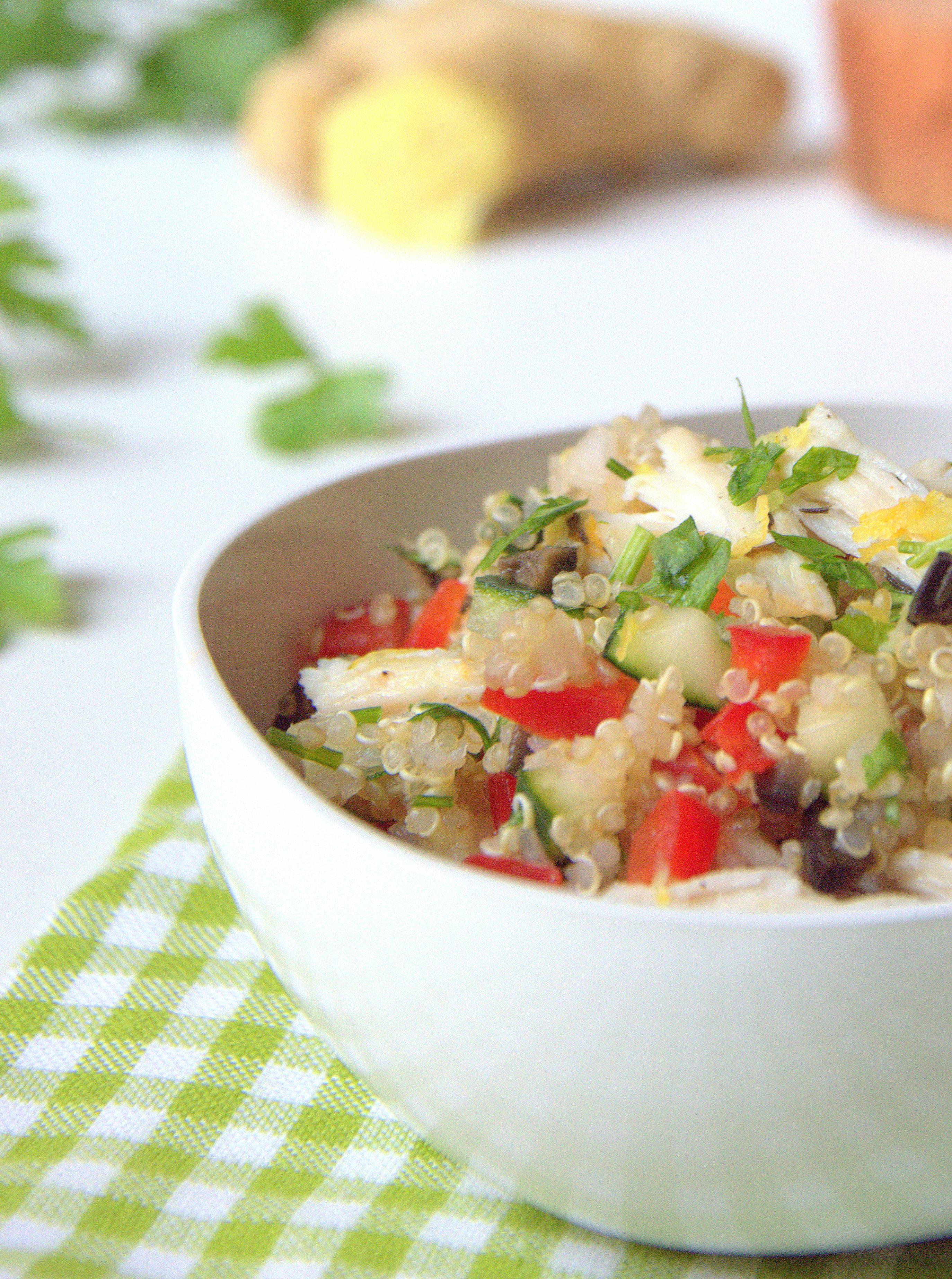Ensalada fresca de quinoa y pollo | La Cuchara Azul