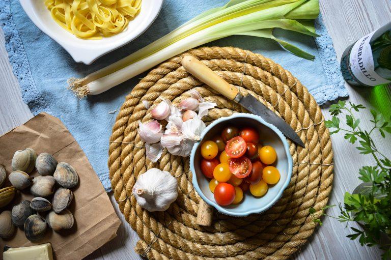 Tallarines con almejas - Barbadillo