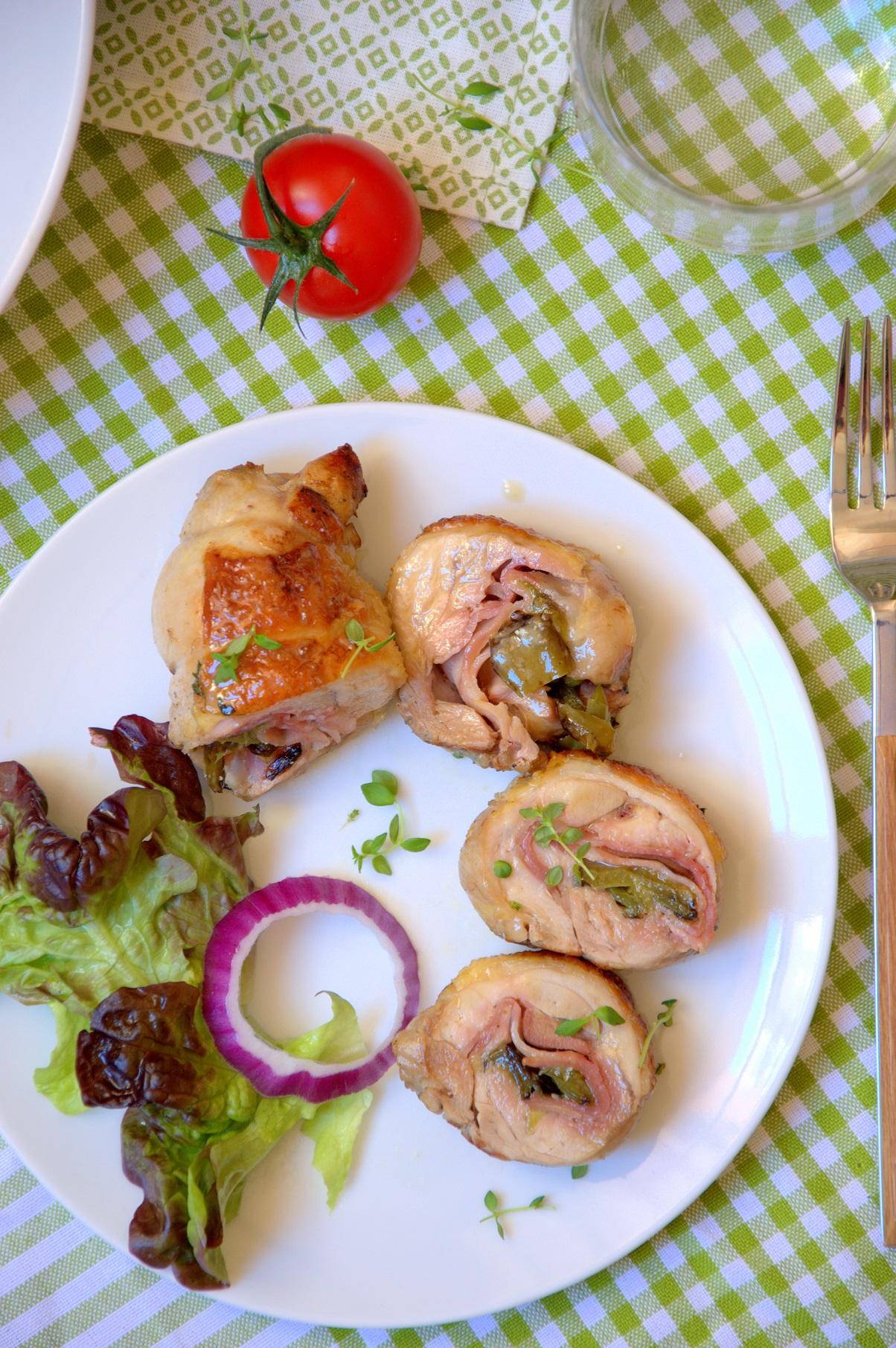 Muslos de pollo rellenos - Ecogall