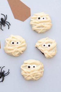 galletas momia oreo chocolate blanco