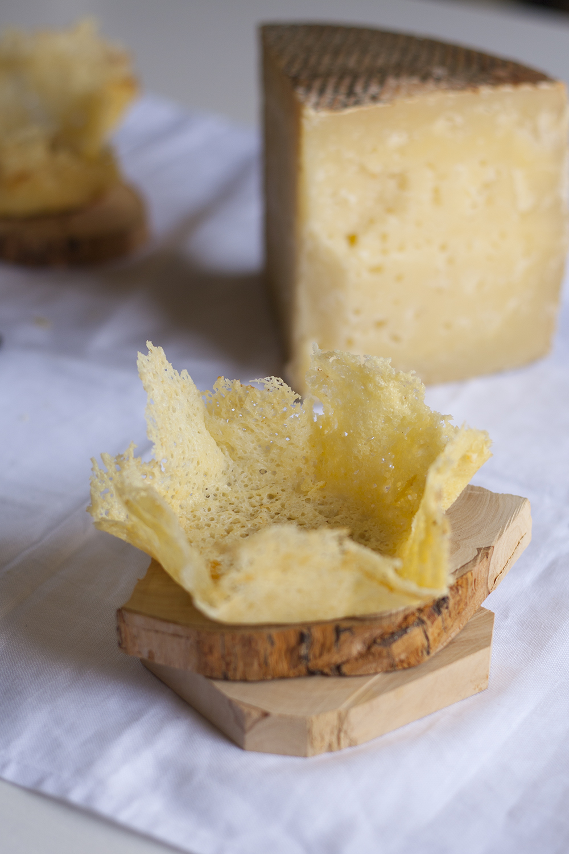 Risotto de espárragos al PX en crujiente de queso - Las Terceras